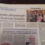 Articolo La Nazione di AVO PISA